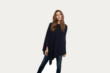 Poncho from Part Two in Navy